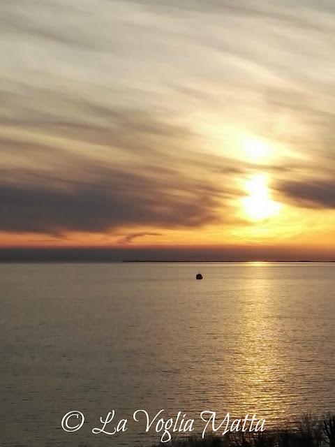 Tramonto dalla terrazza della Trattoria Al Faro a Trieste