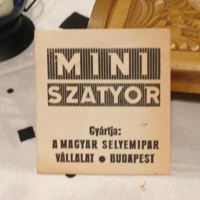 MINI SZATYOR - ez a termékismertetője amit a csomagolásában helyeztek el
