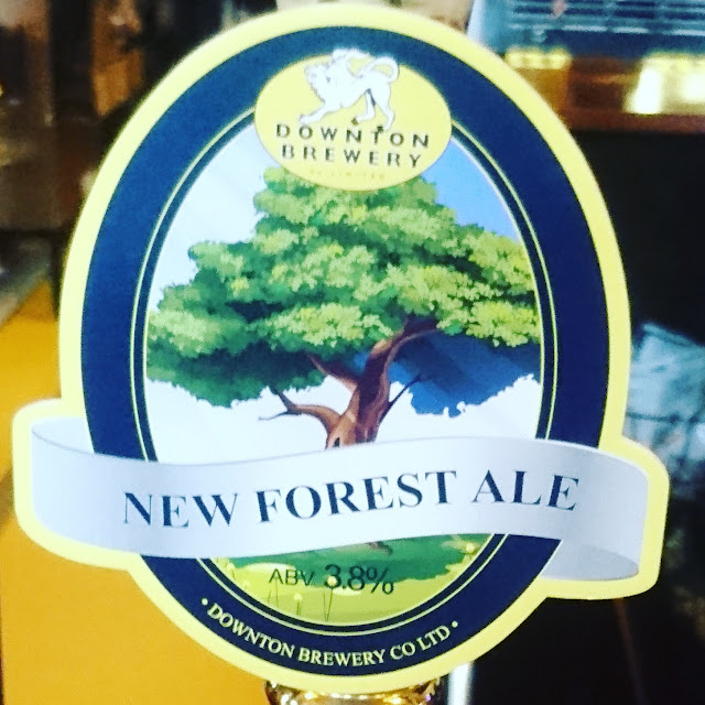 Wiltshire Craft Beer Review: New Forest Ale from Downton Brewery real ale pump clip