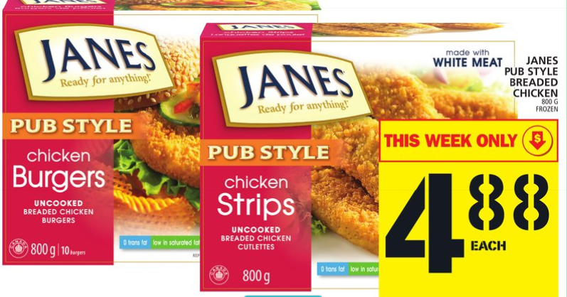 Mix Janes Chicken For 088 Mega Deal At Food Basics