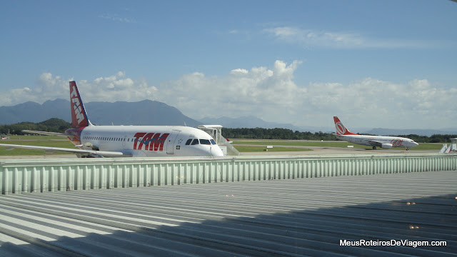 Mirante de observação no Aeroporto Internacional Hercílio Luz - Florianópolis