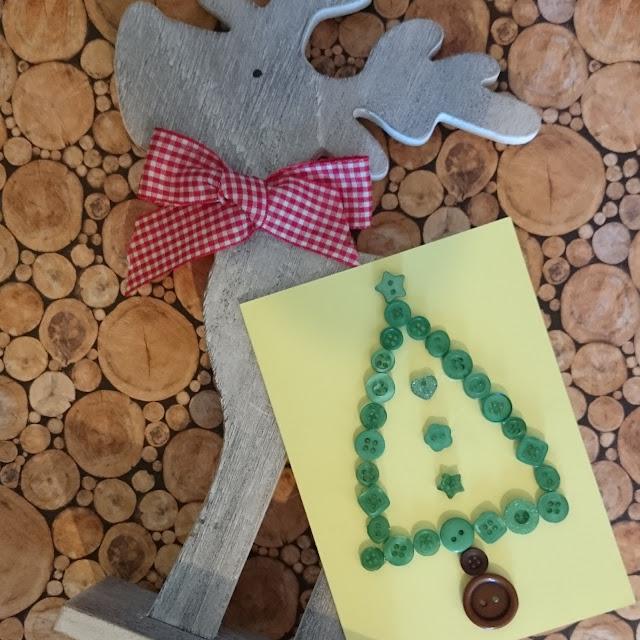 [DIY] Weihnachtskarte Knopf-Tannenbaum // Christmas Card Buttons Christmas Tree