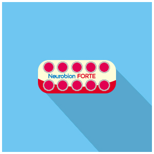 Neurobion Forte Tablet : Vitamin B1 100mg, B6 100mg, B12 5000mcg (Vitamin Neurotropik)
