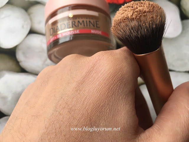 diadermine lift + bb mousse nude köpük bb krem swatch