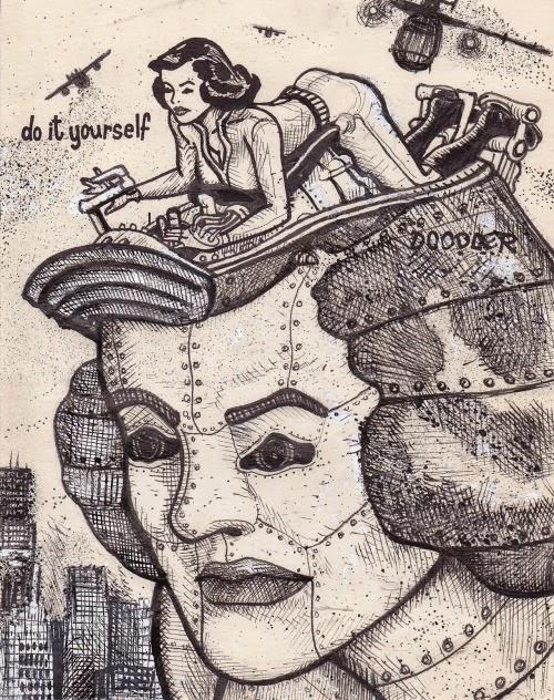 ilustração, ilustrador, desenho, arte, David Jablow, Doodles, faça você mesmo, do it your self, diy, Doodler Lady