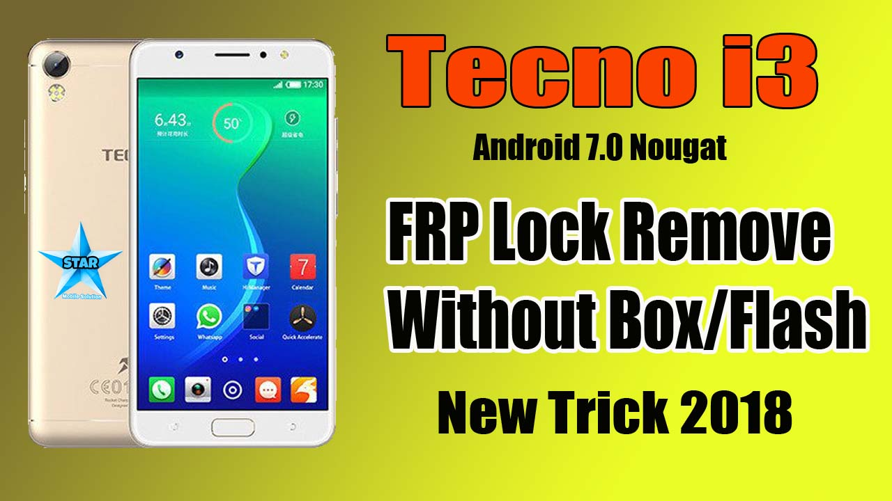 How To Remove Tecno I3 FRP Unlock Without Box | Tecno I3 FRP Lock