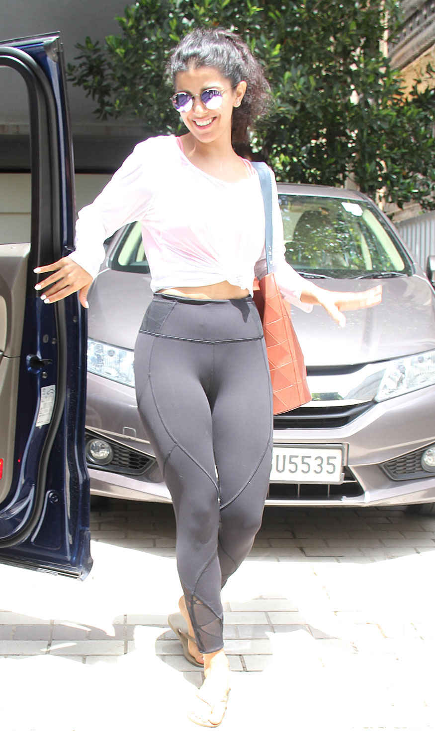 Bollywood actress Nimrat Kaur at a Gym in Bandra, Mumbai