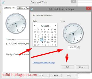 mengubah jam dan tanggal