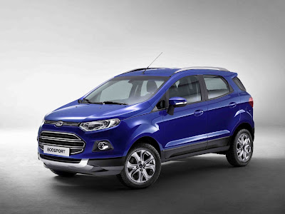 New 2016 Ford EcoSport Blue crossover