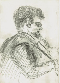 John Ogden drawn by Felicja Blumental