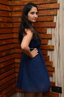 Radhika Mehrotra in a Deep neck Sleeveless Blue Dress at Mirchi Music Awards South 2017 ~  Exclusive Celebrities Galleries 041.jpg