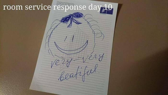 Bored Hotel Guest Makes Creative 'Challenges' For The Housekeepers, And She Responds With Notes