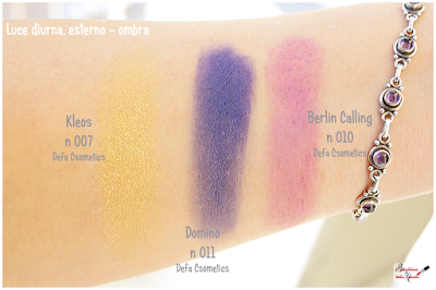 Makeup Defa Cosmetics , eyeshadow, domino, berlin calling, kleos, swatches