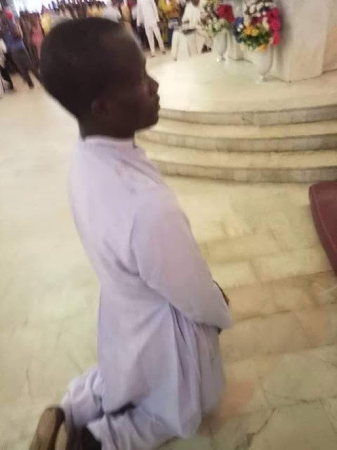 Thief dressed as Catholic Seminarian, See Photo of Thief dressed as Catholic Seminarian nabbed while trying to steal a car during Priestly Ordination in Owerri, Latest Nigeria News, Daily Devotionals & Celebrity Gossips - Chidispalace
