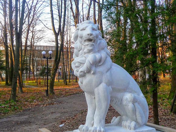 Моршин. Скульптура льва