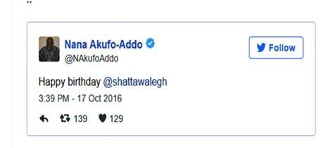 Nana Addo Wishes Shatta Wale A Happy Birthday