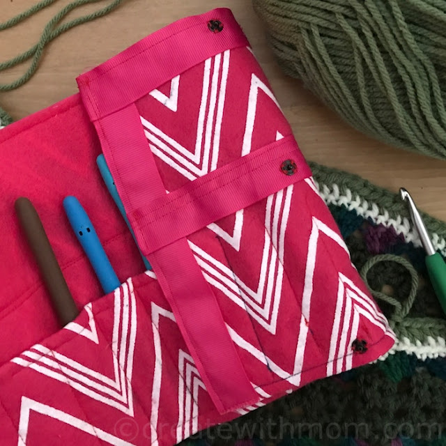 Sewing a Crotchet Hook Case