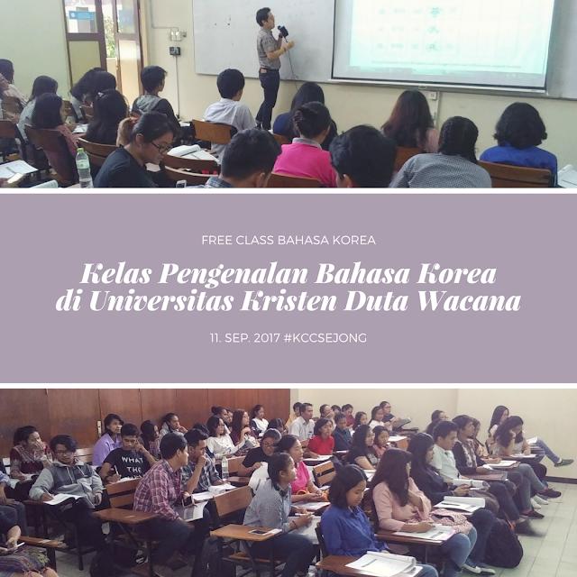 Free Class KCC Sejong - Pengenalan Bahasa Korea di UKDW