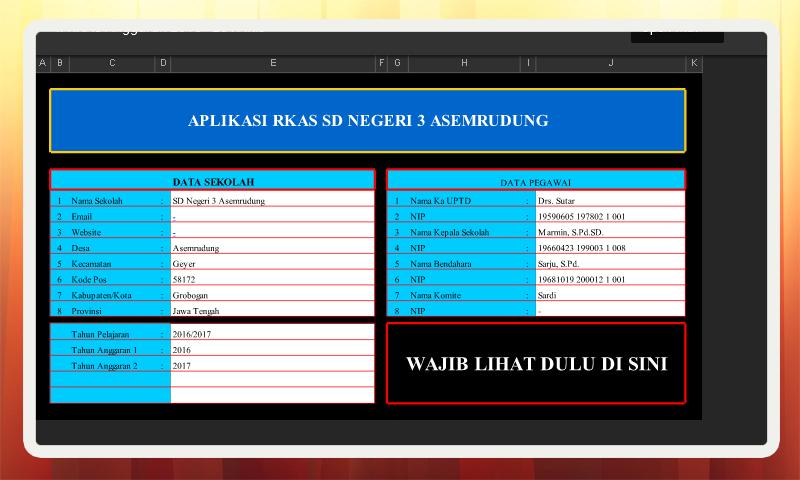 Aplikasi RKAS dengan Excel Terbaru Dilengkapi Pedoman Penyusunannya