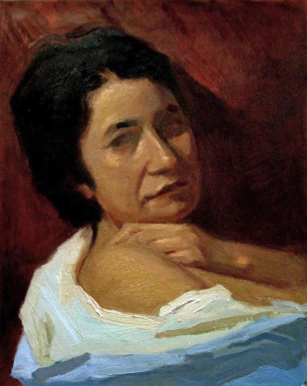 Alejandro Cabeza, Retrato de fondo rojo, María del Mar Molina Ramirez