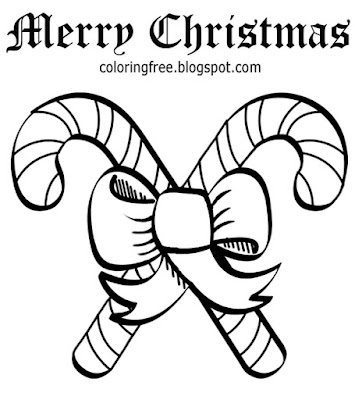 Learn how to color easy drawings for teenagers merry Christmas candy coloring printable Xmas sheets