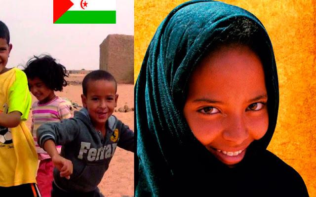 vista parcial del cartel de la V cena solidaria de la asociación de amigos del pueblo saharaui de Esquivias