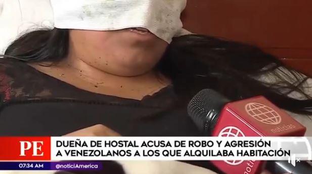 Venezolanos acuchillaron a la dueña de la casa donde vivían en Perú