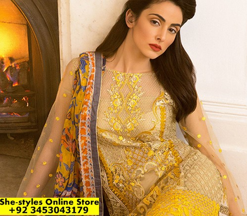 bf46e4266a Sobia Nazir Lawn 2017   Sobia Nazir Spring/Summer Collection 2017    She-Styles   Pakistani Designer Dresses - Fashion Weeks - Lawn Collection