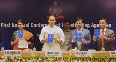 Rajnath Singh, National Conference of investigating agencies,Union Home Minister, Bureau of Police Research and Development, BPR&D, National Investigation Agency, NIA