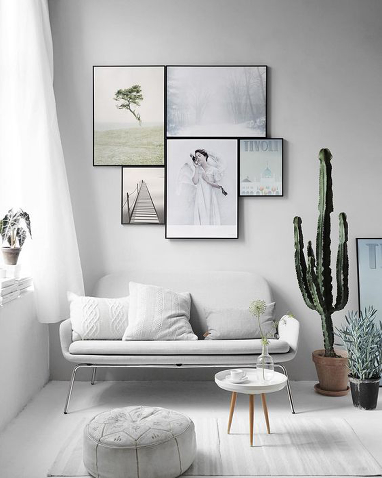 composición cuadros juntos