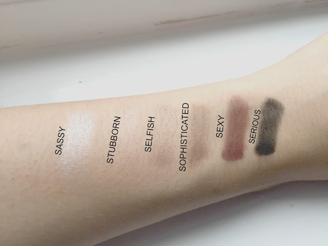 theBalm Nude'Tude Palette Swatches