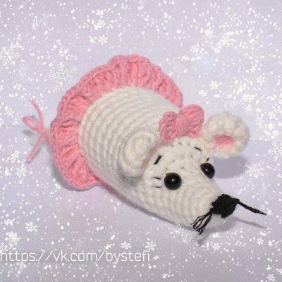 Вязаная мышь крючком