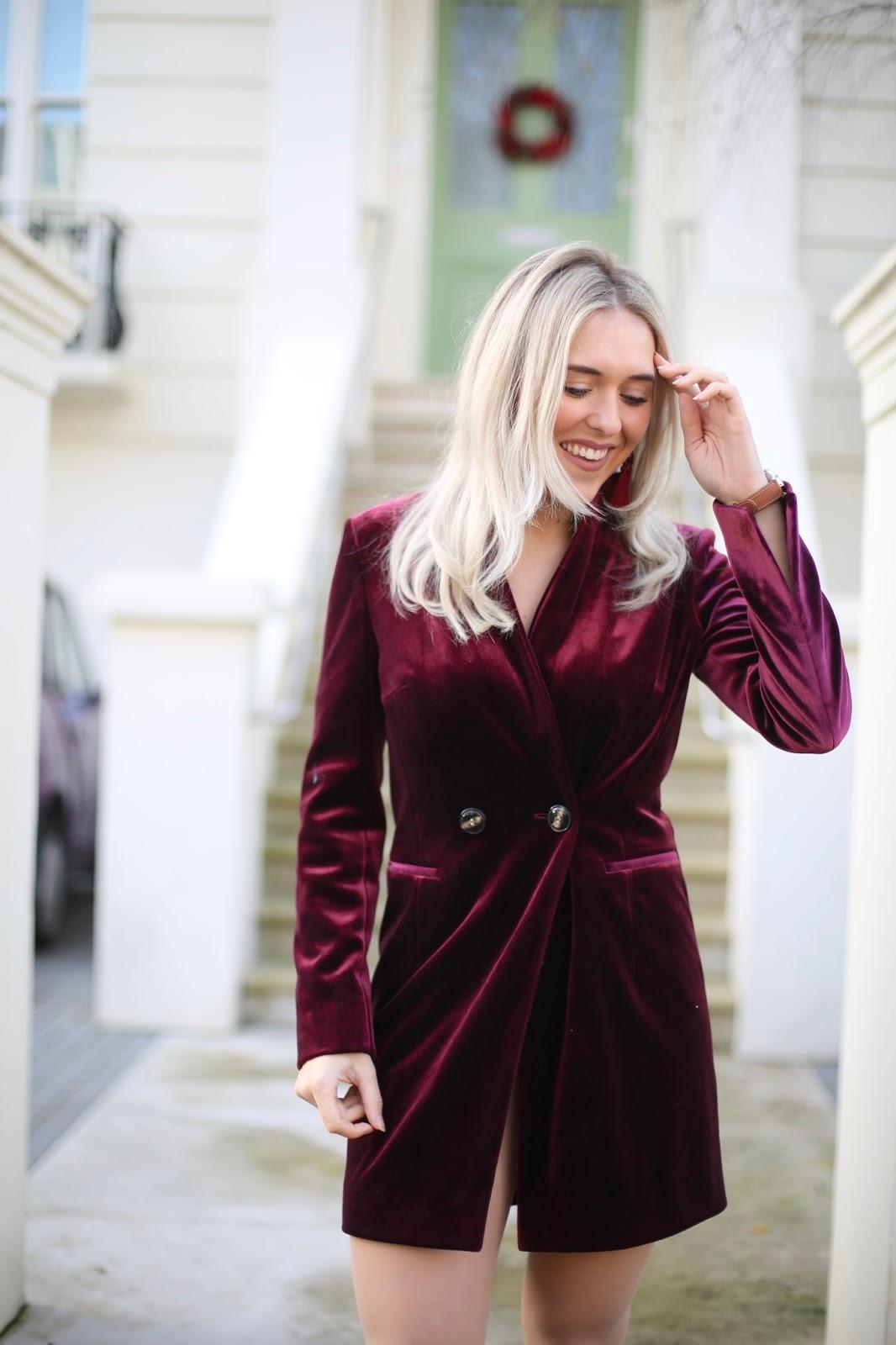 Topshop Velvet Blazer Dress