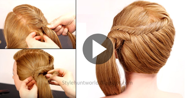 Learn - How To Make Simple And Easy Fishtail Braid Hairstyle, See Tutorial