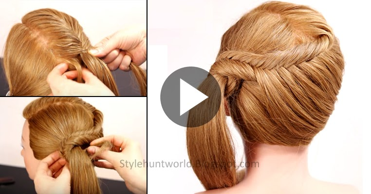 Strange Learn How To Make Simple And Easy Fishtail Braid Hairstyle See Hairstyles For Men Maxibearus