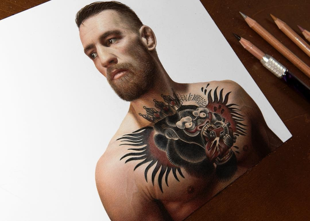 12-Conor-McGregor-MMA-Fighter-Heather-Rooney-Photorealistic-Colored-Pencil-Drawing-Portraits-www-designstack-co