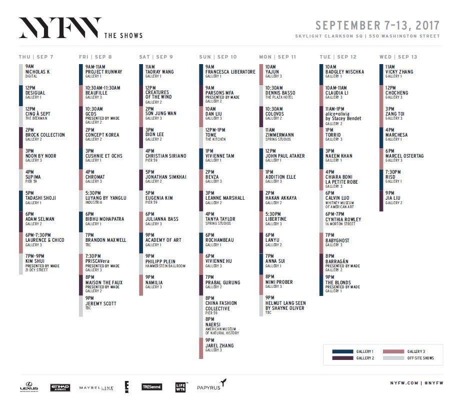 New York Fashion Week Ticket Request