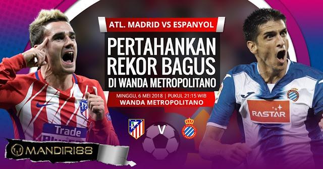 Prediksi Atletico Madrid Vs Espanyol, Minggu 06 Mei 2018 Pukul 21.15 WIB