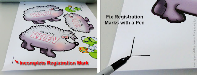 Annie Lang shows you how to fix incomplete registration marks for cutting with a Silhouette Portrait