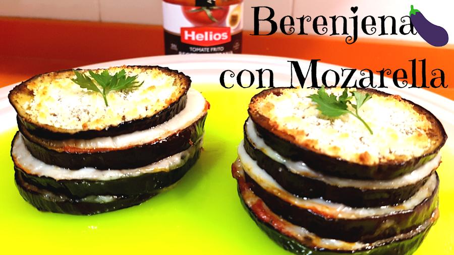 milhojas de berenjena,receta fácil y rápida,con queso y tomate