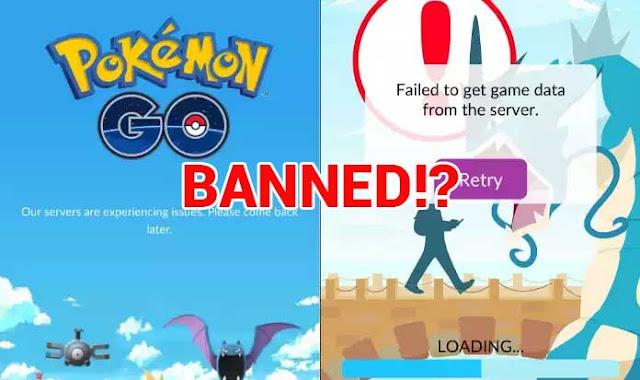 Failed To Get Game Data From Server Pokemon GO? Kemungkinan Banned