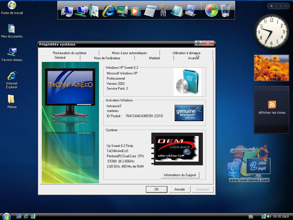 TÉLÉCHARGER WINDOWS XP SWEET 6.2 MYEGY