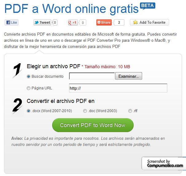 PDF TO WORD CONVERTER GRATIS
