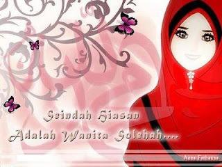 wallpaper kartun muslimah