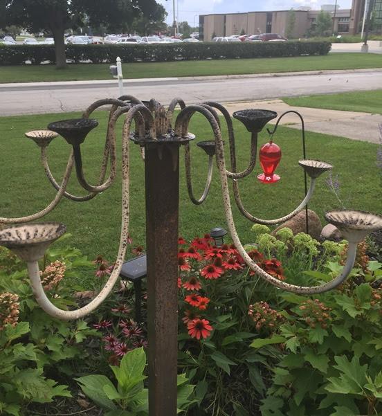 Yard art - trash to treasure in the garden