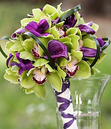 Purple and Green Wedding Theme