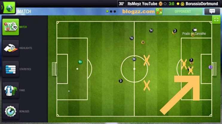Top Eleven'da taktik üstünlüğü oldukça önemlidir, oyunu kazanmak için üstünlüğün kaybedilmemesi gerekir.