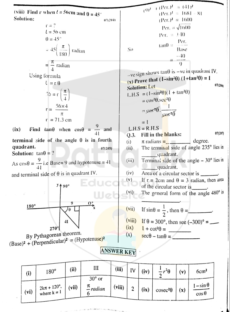 10th Maths Misc. Exercise 6 Solved Obectives 6