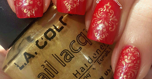 MiliManicure: Janmashtami in Red