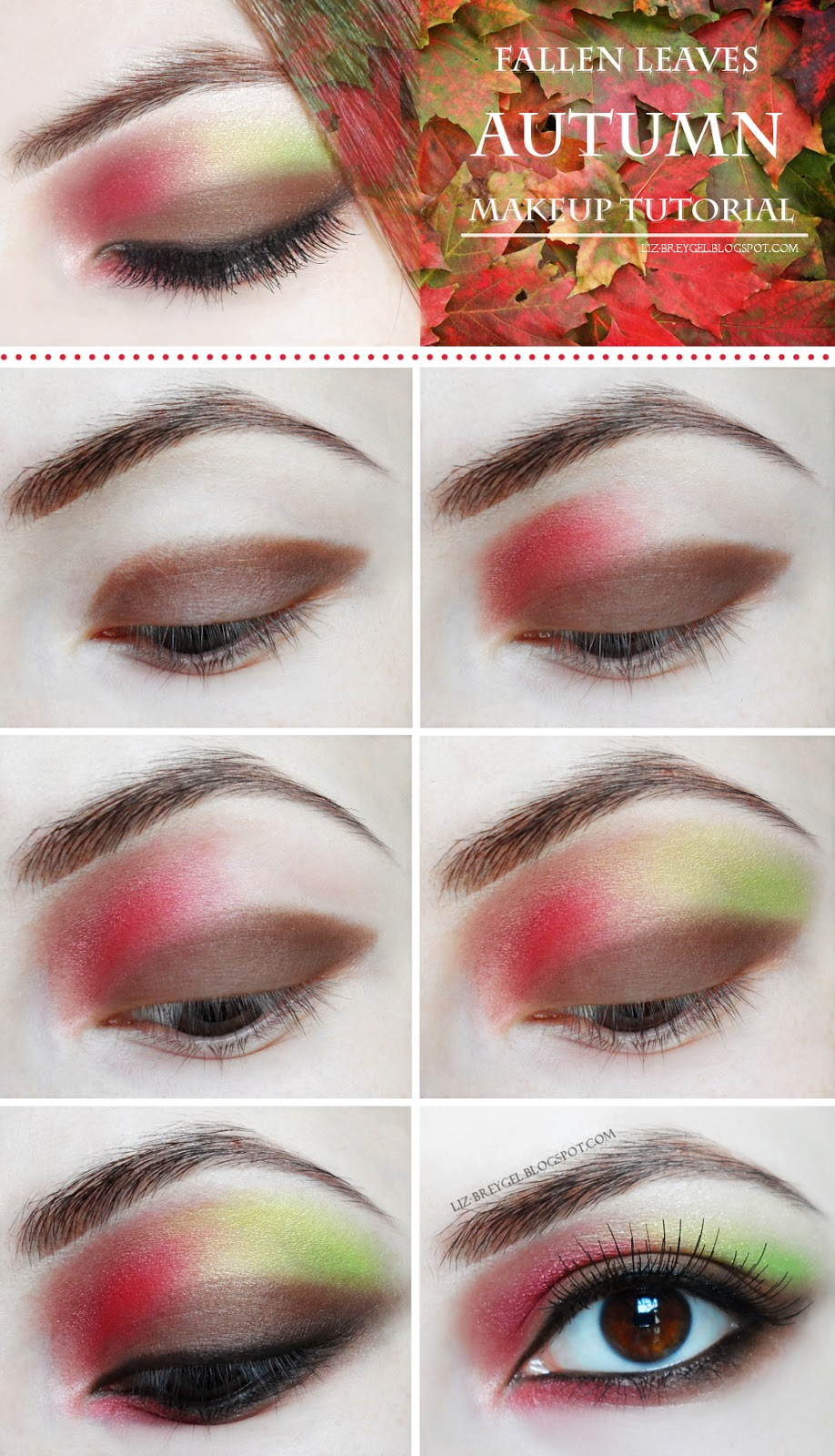 red eyeshadow makeup step by step tutorial brown green eyes makeup
